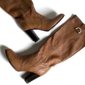 Rafe New York Leather Knee High Heeled Boots